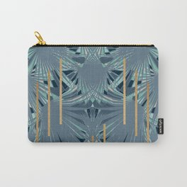 Tropical Art Deco 1.1a Blue, Green, Gold Carry-All Pouch