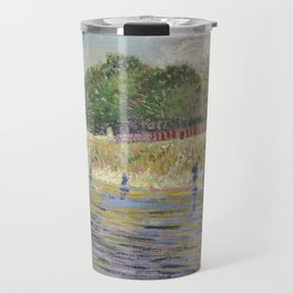Bank of the Seine by Vincent van Gogh Travel Mug