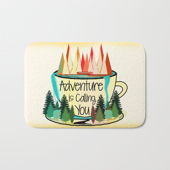 Adventure is Calling You Bath Mat