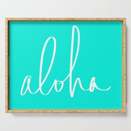 Aloha Tropical Turquoise Serving Tray
