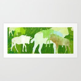 The Great Wildebeest Migration Art Print