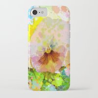 water colour iPhone & iPod Cases featuring Artistic Water colour Pansy by thea walstra