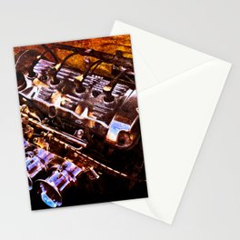 Powerful Car Engine Color Stationery Cards