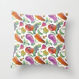 Garden Vegetables Throw Pillow