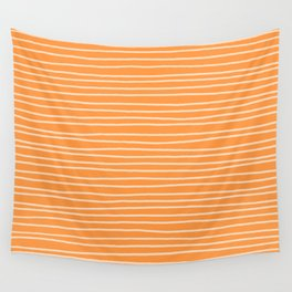 Sherbet Pinstripes Wall Tapestry