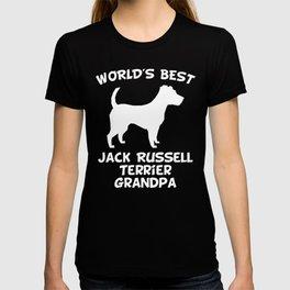World's Best Jack Russell Terrier Grandpa Dog Owner T-shirt