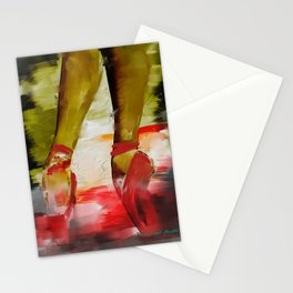 Red Ballet Slippers Stationery Cards