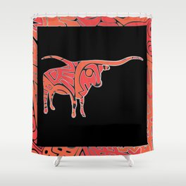 Longhorn IV Shower Curtain