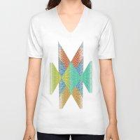 diamonds V-neck T-shirts featuring Diamonds by Lizzy Koury
