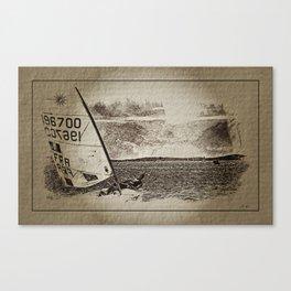 Voile. Semaine Olympique Française  Canvas Print