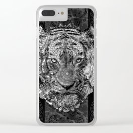 mandala tiger marble Clear iPhone Case