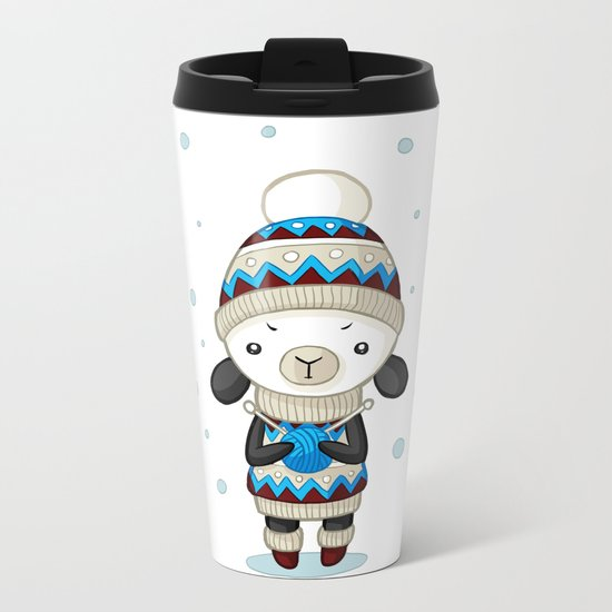 Sheep Metal Travel Mug