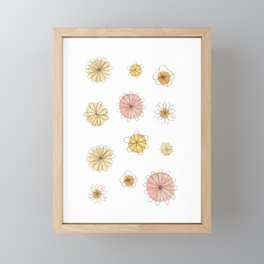 Yellow + Pink (Happiness) Framed Mini Art Print