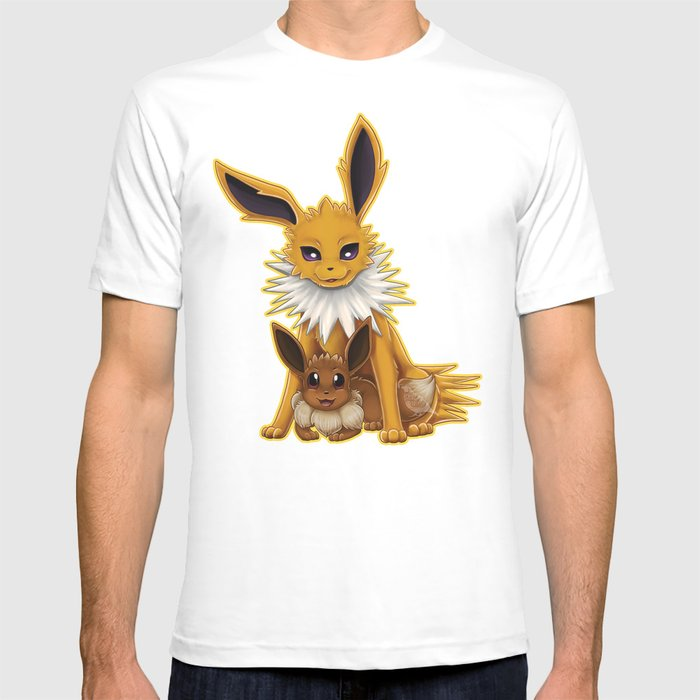 f4a03529 Jolteon and Eevee Pup T-shirt by christineridgway | Society6
