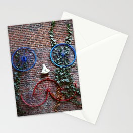 Bike face in a wall of Amsterdam, Netherlands - Fine Art Travel Photography Stationery Cards