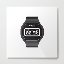 Beer Watch Metal Print