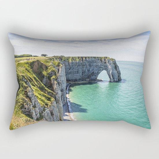 The cliffs of Etretat Rectangular Pillow
