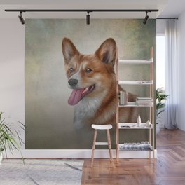 Drawing Dog Welsh Corgi Wall Mural