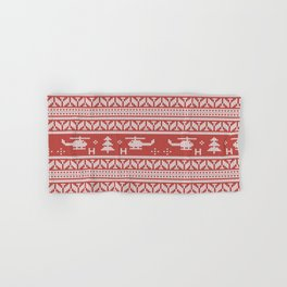 Helicopter Aviation Christmas Pattern Hand & Bath Towel