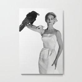 Alfred Hitchcock The Birds Print Tippi Hedren Print The Birds Poster Metal Print