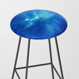 Blue Powder Bar Stool