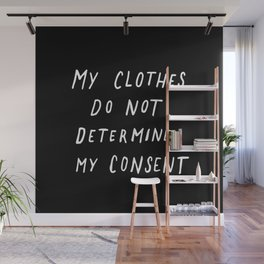Consent Black Wall Mural