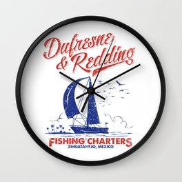 Defresne & Redding Fishing Charters Wall Clock