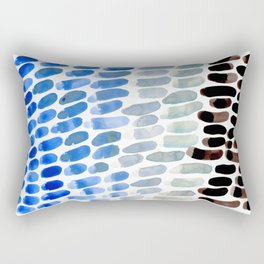 Cool Blue Frosted Winter Palette colorful watercolor Nature Pattern Rectangular Pillow
