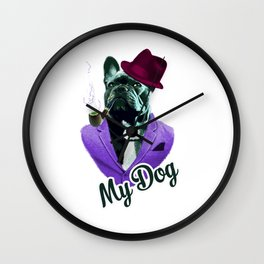 Dog In Fashion Wall Clock