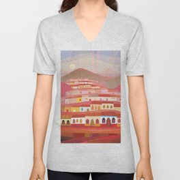 Afternoon in Guatemala Unisex V-Neck