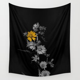 Partial Color Flower Wall Tapestry