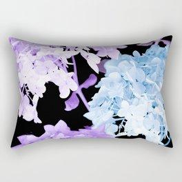 Hydrangea Branches On A Black Background #decor #buyart #society6 Rectangular Pillow