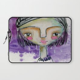 Girl in Purple Laptop Sleeve