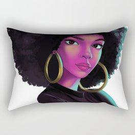 purple wave Rectangular Pillow