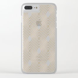 Gold Pattern Illustration Clear iPhone Case