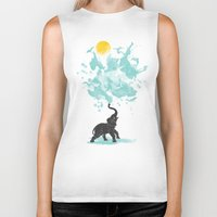 splash Biker Tanks featuring summer splash by Steven Toang