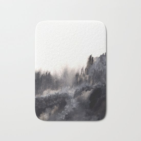 Watercolor abstract landscape 17 Bath Mat