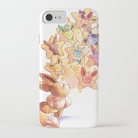 eevee iPhone & iPod Cases featuring Eevee Used Swift by Katy Farina