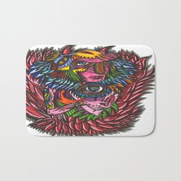 Red Feather Bath Mat