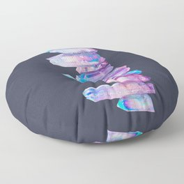 Ultraviolet Aura Crystals Floor Pillow