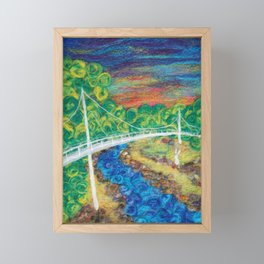 2018 Liberty Bridge Framed Mini Art Print