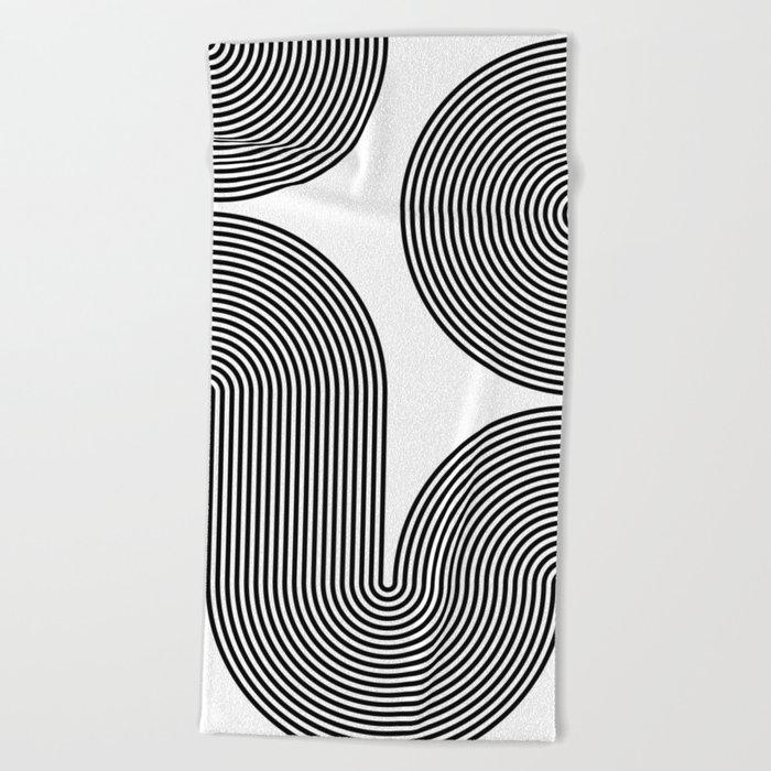concentric 02 Beach Towel