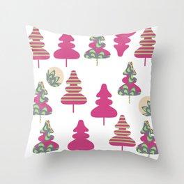 Trees pattern 5W Throw Pillow