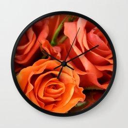 Peach Rose 3 Wall Clock