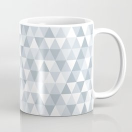 shades of ice gray triangles pattern Coffee Mug