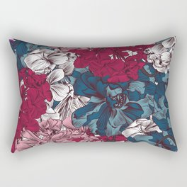 Beautiful floral design with hand drawn petunias Rectangular Pillow