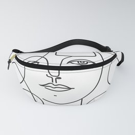 Picasso lady  Modern Sketch Picasso Art Modern Minimalist Fanny Pack