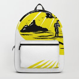 Adam and Eve Serpent Tree Woodcut Backpack