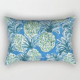 LAPIS PINEAPPLE O'CLOCK Tropical Print Rectangular Pillow