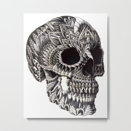 Ornate Skull Metal Print